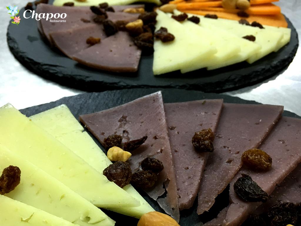 Restaurante Chapoo. Tabla de quesos