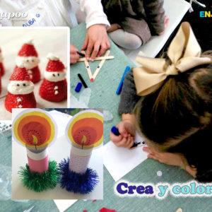 Actividades de la animación infantil. Juegos pintar Navidades