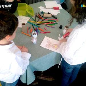 Actividades de la animación infantil. Juegos pintar