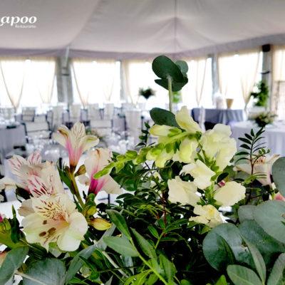Evento Chapoo. Detalle Floral para centro de mesa principal