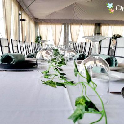 Evento Chapoo. Detalle de la mesa larga