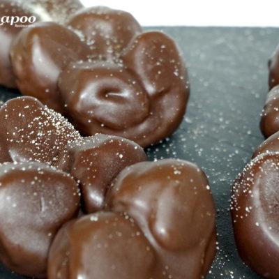 Palmeritas de chocolate. Estilo Chapoo