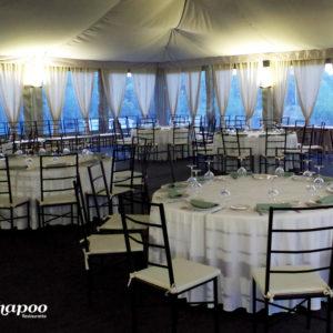 Salón para eventos. Presentación de una marca