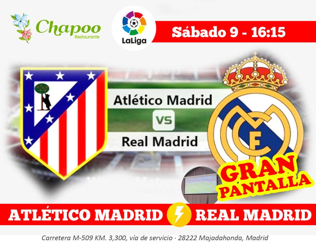 pantalla gigante Atlético Madrid contra Real Madrid