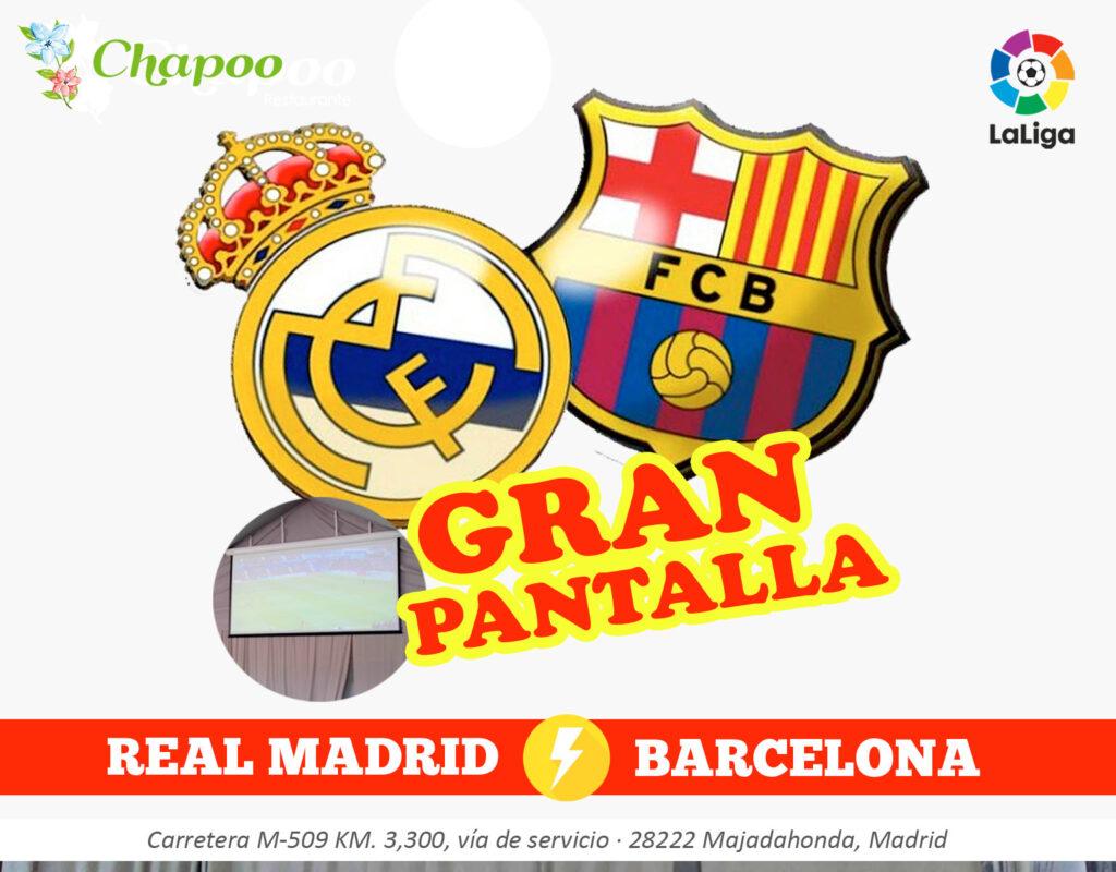 Partido Real Madrid contra Barcelona La liga Las rozas