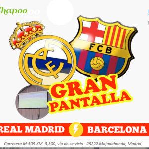 Partido Real Madrid contra Barcelona La liga Majadahonda Restaurante