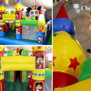 Nuestro castillo en la zona de la carpa para eventos en familia