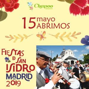restaurantechapoo-abrimos-san-isidro-fiesta-madrid