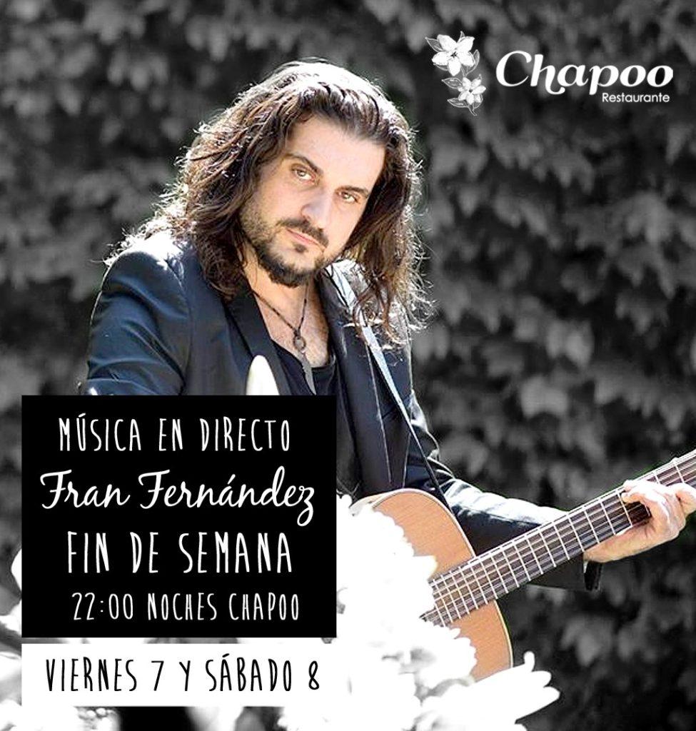 viernes y sabado cenas musica directo Fran Fernandez