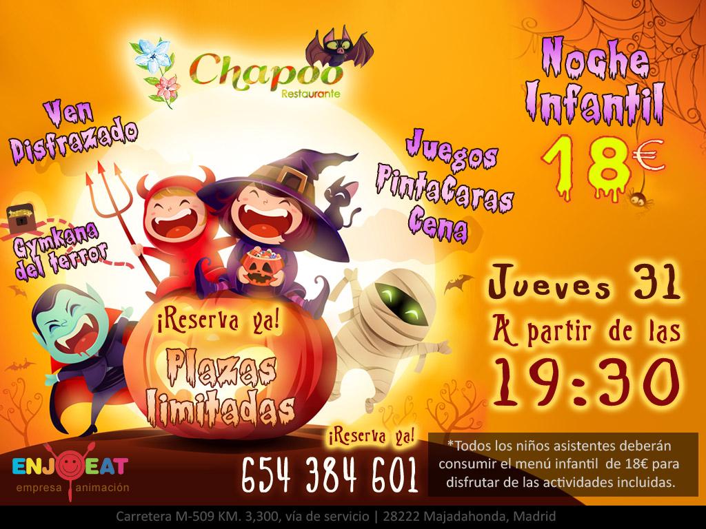 Fiesta Halloween para niños de entre 3 y 12 años