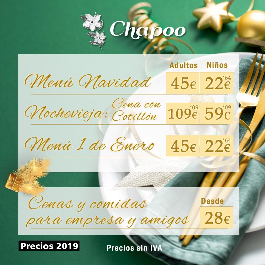 precios menus Navidad Nochevieja Ano Nuevo y Cenas Empresa Majadahonda Las Rozas