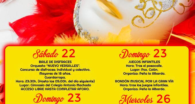 Cartel Carnaval de Majadahonda 2020