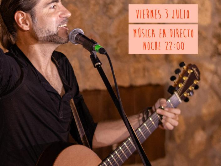 Estrenamos Julio con la musica en directo de daniel hare