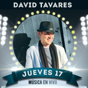 Música en directo en nuestro restaurante con David Tavares. Jueves 17 Diciembre
